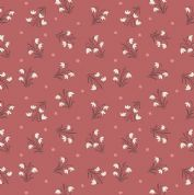 Lewis & Irene Enchanted Forest - 5091 - Snowdrops on Brick Red - A186.2 - Cotton Fabric